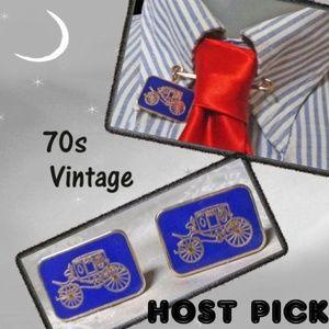 Mens Gift! Vtg Antique Car Cuff Link Set